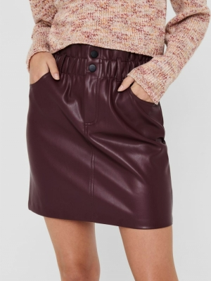 Only Onlmaiya-Miri Faux Leather Skirt CC PNT Jupe Femme